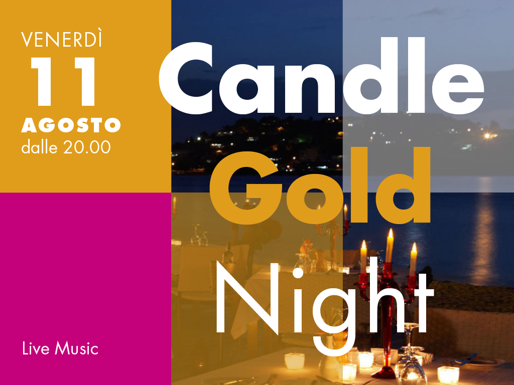 11 Agosto: Candle Gold Night
